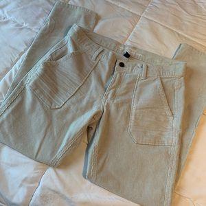 GAP Light Grey Coupe Girlfriend Corduroy Jeans